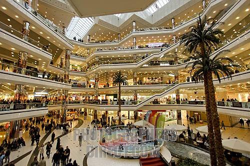 Cevahir shopping mall in Istanbul , largest mall of Turkey